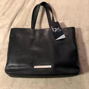 BX by Buxton Tote Bag Faux Leather Laptop Black